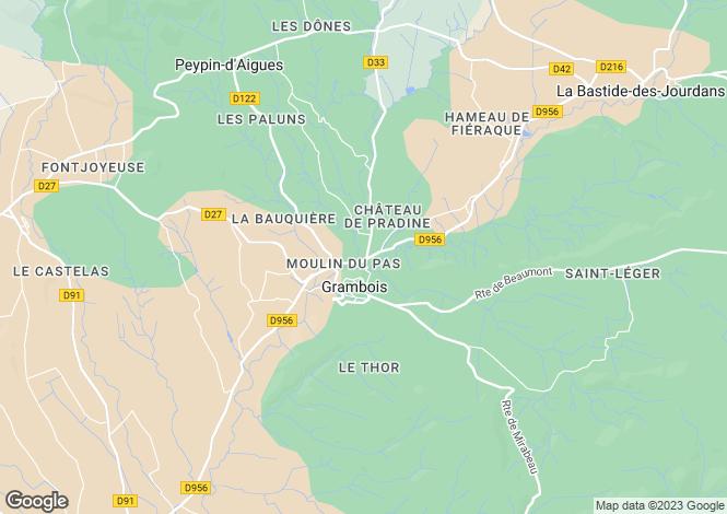 Map for Grambois, Vaucluse, Provence-Alps-Cote d`Azur