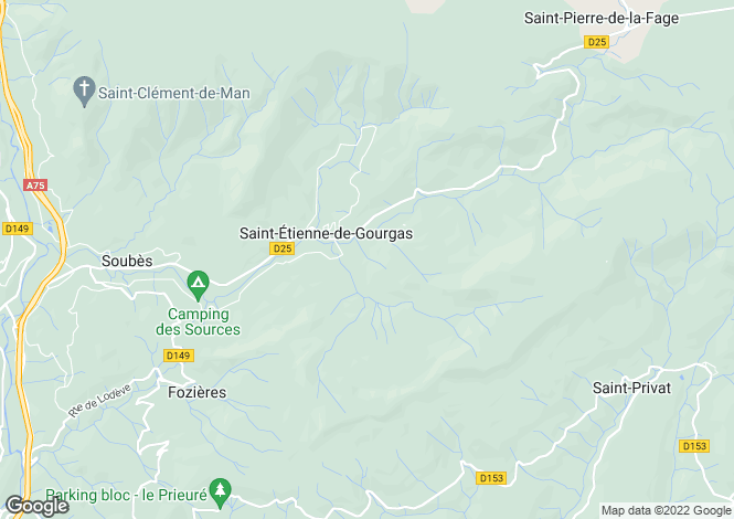 Map for st-etienne-de-gourgas, Hérault, France