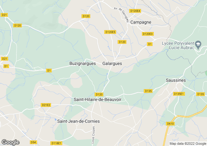 Map for galargues, Hérault, France