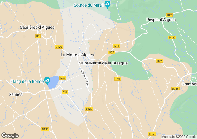 Map for Saint Martin de la Brasque,France