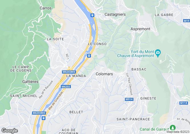 Map for Colomars, Alpes-Maritimes, Provence-Alps-Cote d`Azur