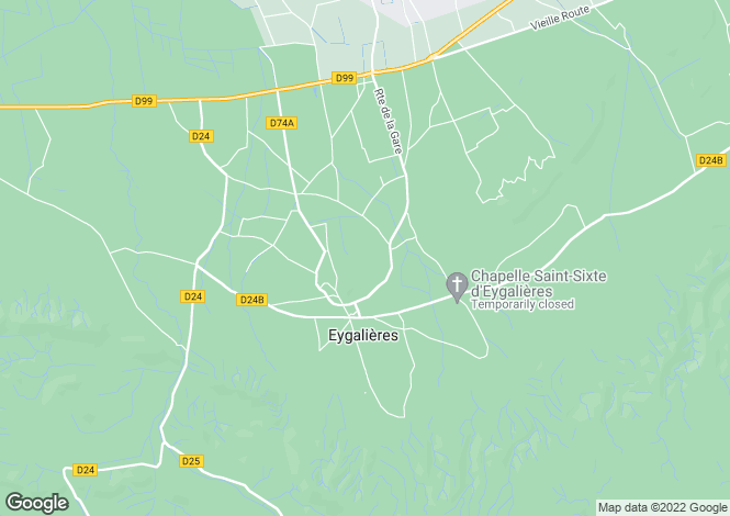 Map for Mas Des Colombes, Eygalieres, North Apilles, France