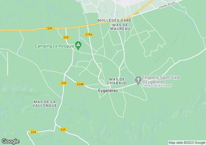 Map for Eygalieres, Alpilles, Provence