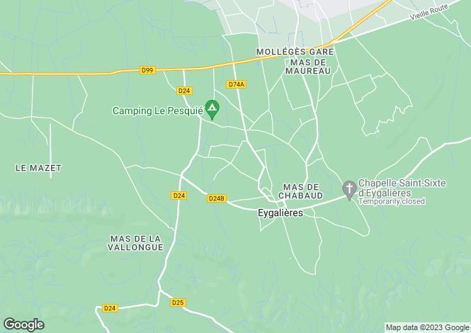 Map for Provence-Alps-Cote d`Azur, Bouches-du-Rhône, Eygalières