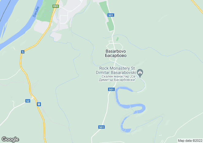 Map for Ruse, Basarbovo