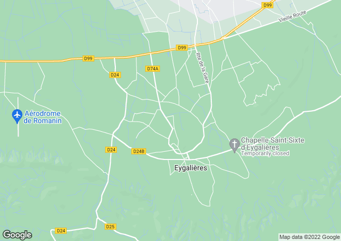 Map for Eygalieres, Alpilles, Provence, France