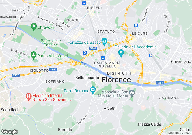 Map for Italy - Tuscany, Florence, Florence