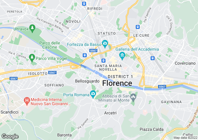 Map for Firenze, Firenze, Italy