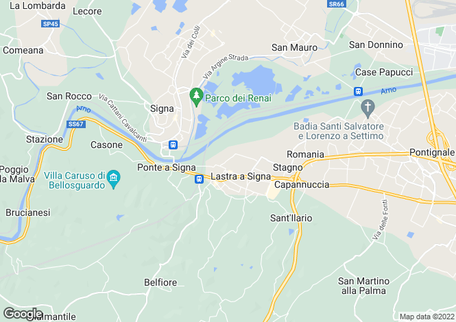 Map for Lastra a Signa, Florence, Tuscany