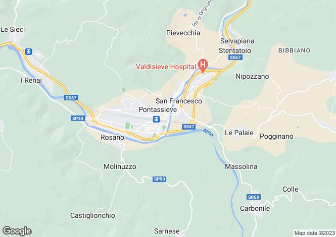 Map for Piazza della Vittoria, Pontassieve, Tuscany