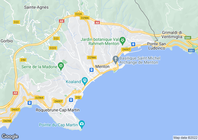 Map for Menton, Alpes-Maritimes, 06500, France