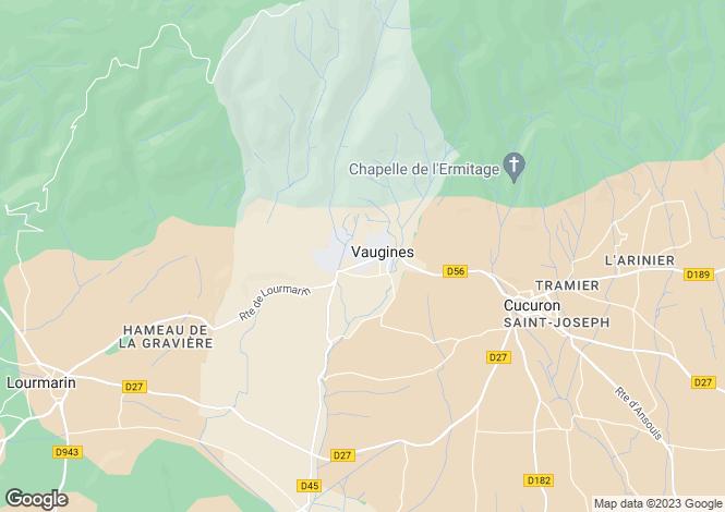 Map for Provence-Alps-Cote d`Azur, Vaucluse, Vaugines