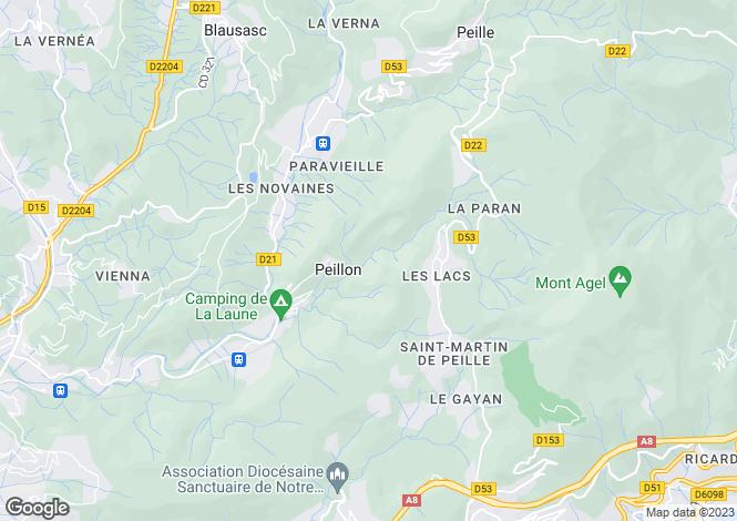 Map for Peillon, 06440, France