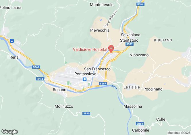 Map for Via Piero Palagi, Pontassieve, Tuscany