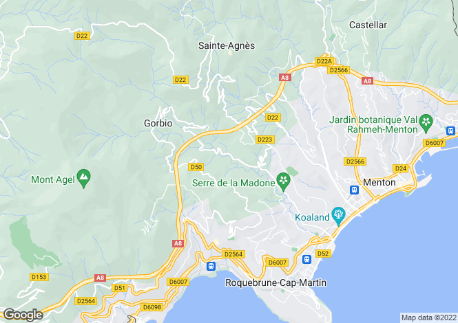 Map for ROQUEBRUNE CAP MARTIN,Provence-Alpes-Côte d'Azur, France