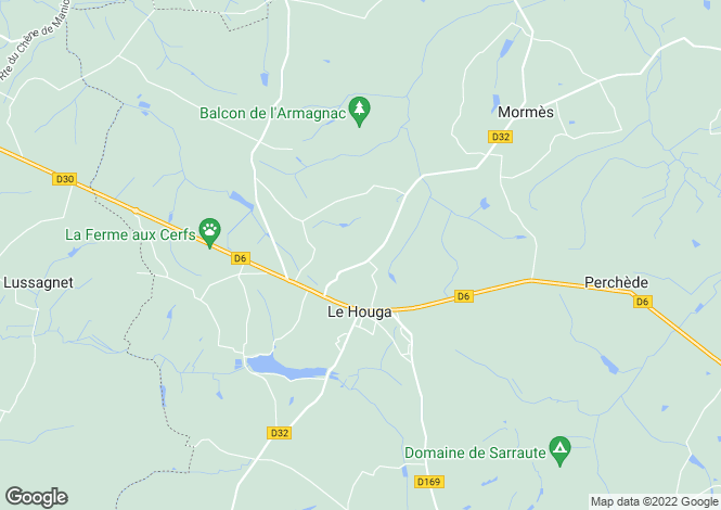 Map for le-houga, Gers, France