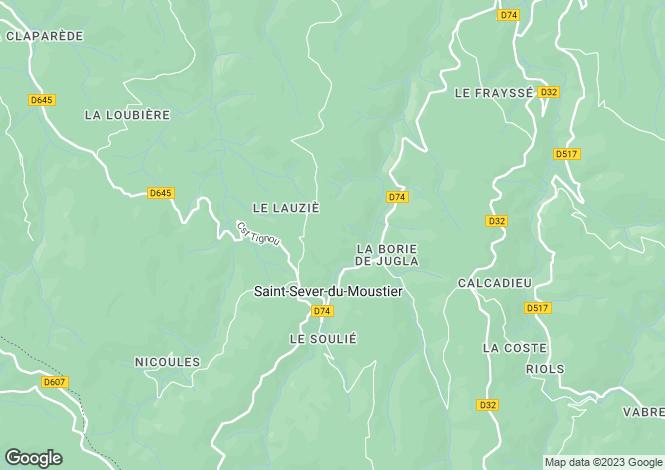 Map for , Aveyron, France
