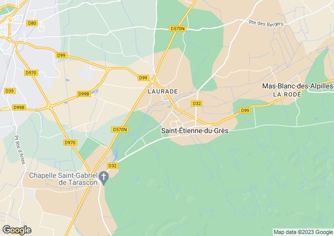 Map for The Alpilles (St Remy de Provence/Arles), Provence - Var,
