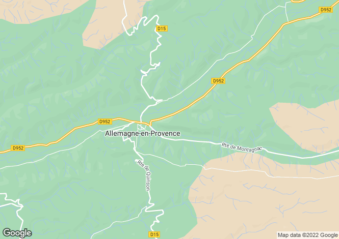 Map for Provence-Alps-Cote d`Azur, Alpes-de-Haute-Provence, Allemagne-en-Provence