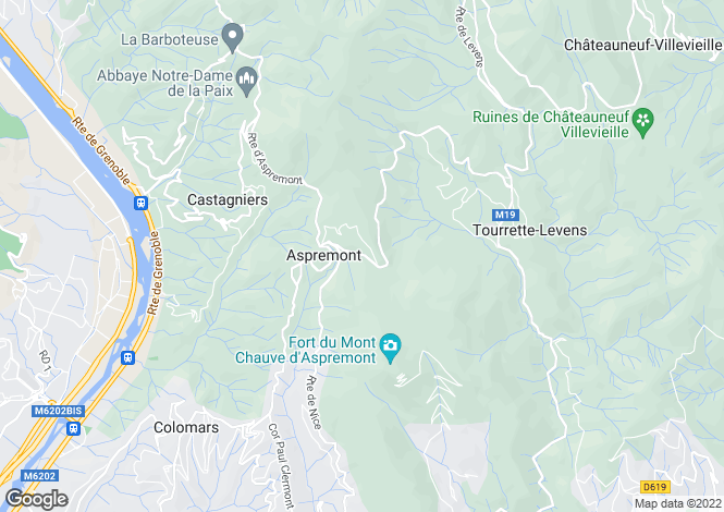 Map for aspremont, Alpes-Maritimes, France