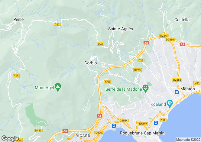 Map for Gorbio, Provence-Alpes-Cote D'azur, 06500, France