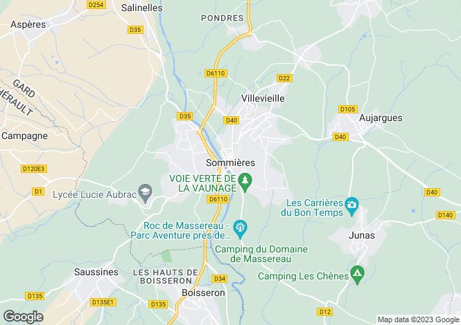 Map for Secteur: Sommieres, Gard