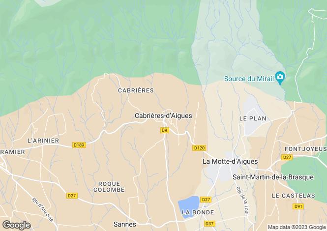 Map for Provence-Alps-Cote d`Azur, Vaucluse, Cabrières-d`Aigues