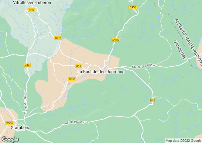 Map for 84240, La Bastide des Jourdans, Vaucluse