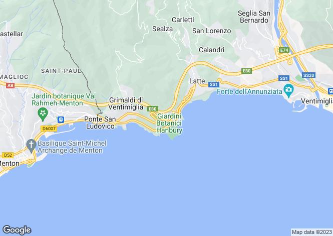 Map for Liguria, Ventimiglia, Ventimiglia
