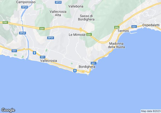 Map for Bordighera, Imperia, Liguria
