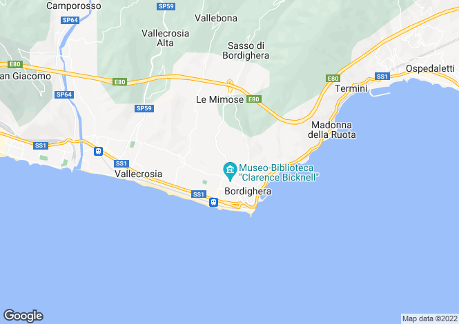 Map for Bordighera,Italy