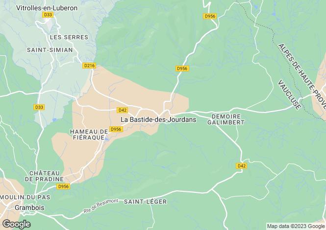 Map for la-bastide-des-jourdans, Vaucluse, France