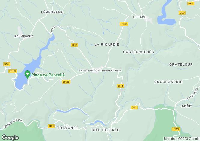 Map for Proche / Near St Antonin De Lacalm, Tarn