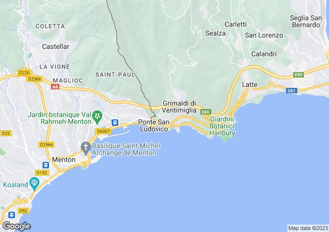 Map for Menton, Alpes-Maritimes, Provence-Alps-Cote d`Azur