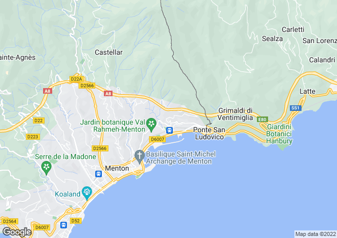 Map for Menton, French Riviera