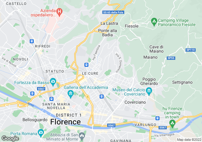 Map for Tuscany, Florence, Florence