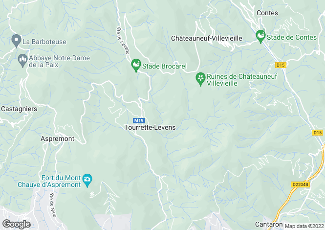 Map for Tourrette-Levens, 06690, France