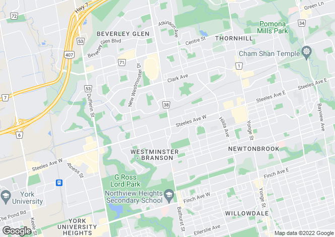 Map for Breathtaking Residence, Vaughan, Ontario
