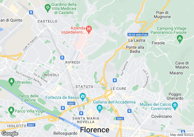 Map for Villa Arianna, Florence, Tuscany