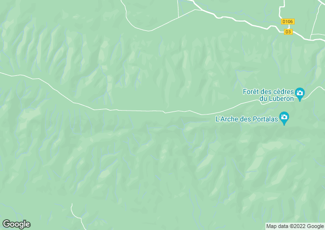 Map for Provence-Alps-Cote d`Azur, Vaucluse, Cheval-Blanc
