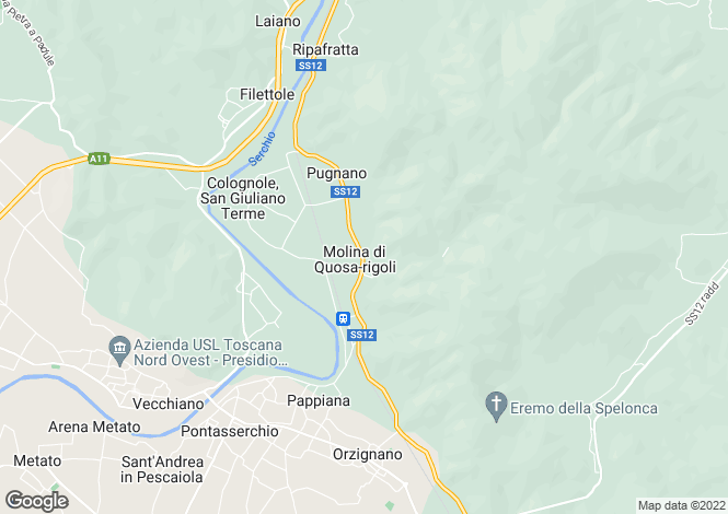 Map for Tuscany, Pisa, San Giuliano Terme