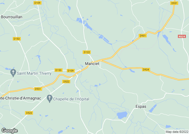 Map for manciet, Gers, France