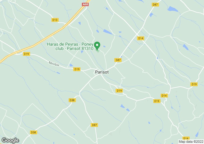 Map for Parisot,France