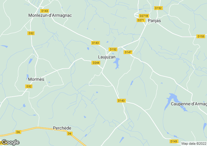 Map for laujuzan, Gers, France