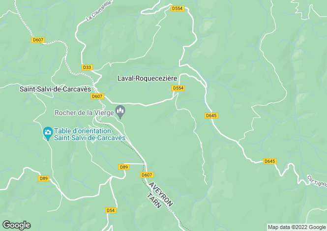 Map for laval-roqueceziere, Aveyron, France