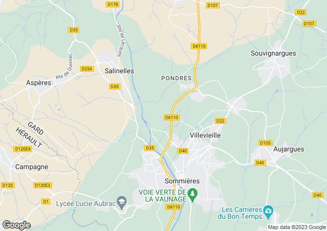 Map for salinelles, Gard, France