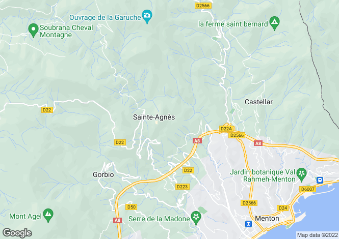 Map for ste-agnes, Alpes-Maritimes, France
