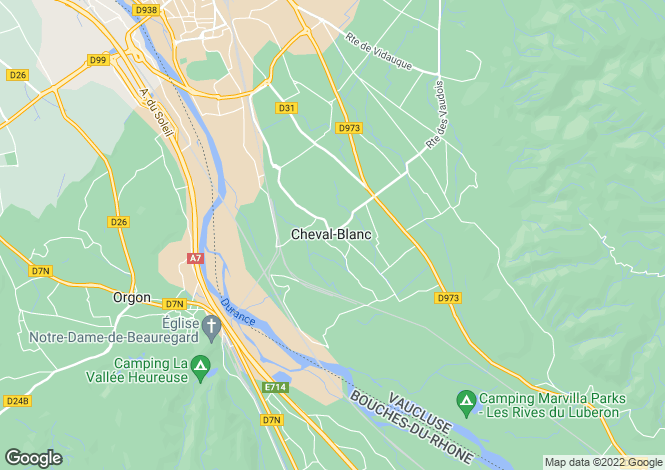 Map for Provence-Alps-Cote d`Azur, Vaucluse, Cheval-Blanc