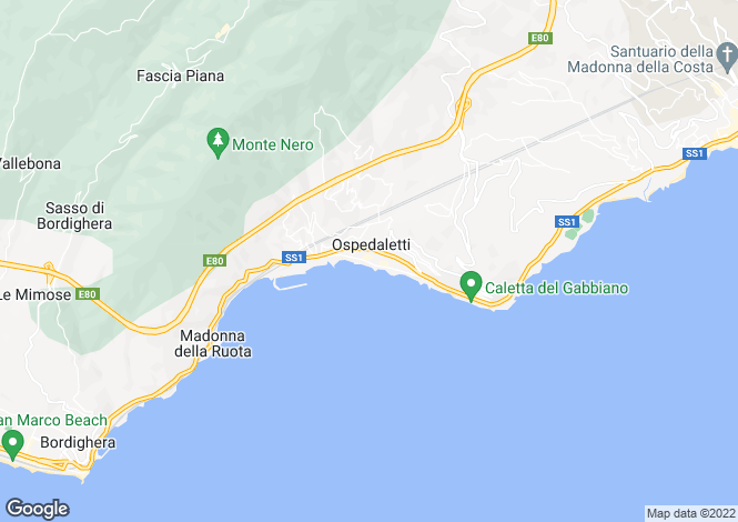 Map for Liguria, Imperia, Ospedaletti