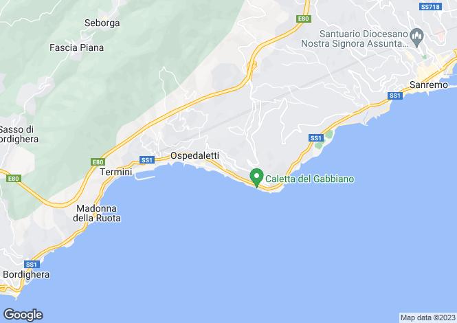 Map for Ospedaletti, Imperia, Liguria